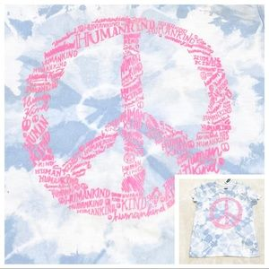🆕Girl's Old Navy Tie-Dye PEACE SIGN Tee Size XS
